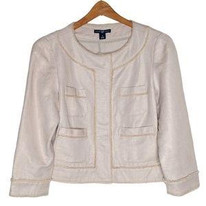 GAP Tan and Gold Shimmery Blazer Jacket Medium